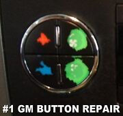 12 - 2007-2013 Gm Button Decals Stickers Climate Control A/c Radio Chevrolet Gmc