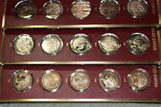 1776-1976 Complete 200 Medal/coin Set History Of The United States W/ref.folders