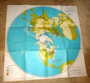 Large Map Us Air Force Economic Chart Northern Hemisphere Stereographic 1948