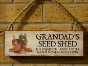 Personalised Garden Shed Sign Seed Store Garden Seeds Plants Flowers Garden Tool