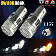 1157 Amber White Switchback Projector Led Turn Signal Light Bulb 1157a 2357 3497