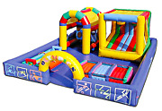 25x20x112 Commercial Inflatable Bounce House Water 5 In 1 Castle Obstacle Course