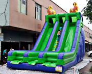 25x16x20 Commercial Inflatable Bounce House Water Slide Castle Obstacle Course