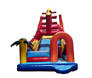 20x12x15 Commercial Inflatable Boat Bounce House Water Slide Obstacle Course