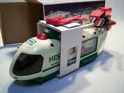 Hess Collectible 2001 Toy Helicopter With Motorcycle And Cruiser W/ Original Box