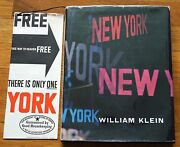 Signed - William Klein - New York 1956 1st Edition With Jacket And Brochure - Nice