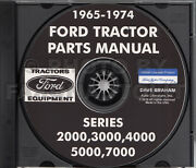 1965-1974 Ford Tractor Master Parts Book Cd-rom Catalog 2000 3000 4000 5000 7000