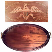 Antique Federal Eagle Serving Tray Platter Patriotic 4th Of July Flag Americana