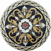 Decor Home Garden Traditional Majestic Round Medallion Marble Mosaic Md546