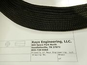 Nylon Braided Multifilament Sleeving, Black, Wire Harness Covering, Loom, Wrap