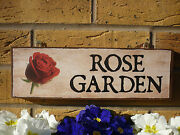 Personalised Rose Garden Sign Secret Garden Gifts For Gardeners Gifts Wood Signs