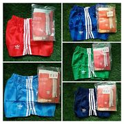 New Adidas Vintage Shorts Vinyl Shiny Chile Runner Sprinter West Germany 70 80and039s