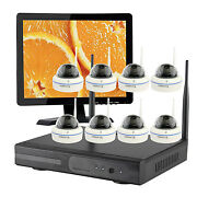8ch Home Cctv Wireless Security Camera System With Hard Drive And Hdmi Monitor