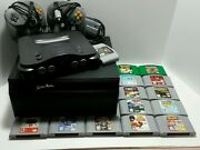 Nintendo 64 Huge Bundle Console 2 Controllers 14 Games Adapter Case Tested Works