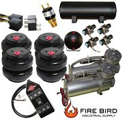 V Air Compressors 480c Pewter 4 3/8 Valves 2500 Air Bags 7switch 5 Gal Tank