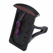 Motorcycle Side Axle Licence Plate Holder Bracket With Brake Tail Led Light