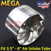 Air Intake Fan Turbo Supercharger Turbonator Gas Fuel Saver Fit 3.5 To 4 Inches