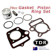 70cc-90cc Piston And Rings And Gasket Dirt Bike Quad Buggy Loncin Ducar Atomik 47mm