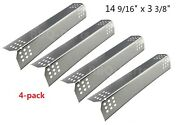 Stainless Steel Heat Plates 4pk Bbq Gas Grill Parts Shield Cover For Sunbeam