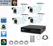 4ch Face Detection 5mp Nvr 4 X 2mp 2.8-12mm Camera Ip Security System 1tb Hdd