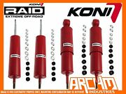 Land Rover Discovery 1 Koni Adj Heavy Track Front And Rear Shock Absorbers