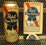 Pbr Pabst Blue Ribbon Beer New 24oz Tall Boy Koozie Can Cooler Free Sticker