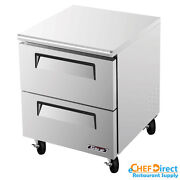 Turbo Air Tur-28sd-d2-n Super Deluxe 28 2 Drawer Undercounter Refrigerator
