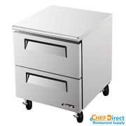Turbo Air Tuf-28sd-d2-n Super Deluxe 28 2 Drawer Undercounter Freezer