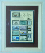 Old Stamp Collection All Dealing With Sailing Used Stamps Framed