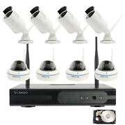 Home Surveillance Wireless Security Camera System Wifi Bullet Dome Hdd Ch Option