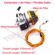 Carburetor Air Filter Throttle Cable 49 66 80 Cc Gas Motorized Bicycle Push Bike