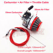 Carburetor Air Filter Throttle Cable 50 60 80 Cc Push Bike Gas Motorized Bicycle