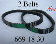 2x Belts 669 18 30 For Scooter Giovanni Aimex Jackel Wildfire Xtreme Seaseng