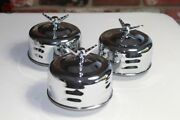 Mushroom Louvered 2 Barrel Low Profile Air Cleaners 3 Wing Nut Hot Rat Rod Truck