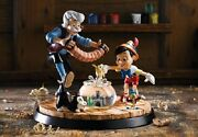 Extremely Rare Walt Disney Pinocchio And Gepetto Dancing Le Of 250 Statue
