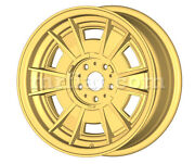 Ferrari 206 246 Gt Gts Gold Cromodora Style 14 Wheel Set 4 Pcs New