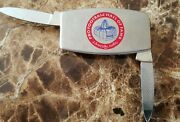 Vintage Pro Football Hall Of Fame Money Clip And Knifegreat Shape