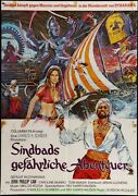 The Golden Voyage Of Sinbad Movie Poster Folded German 23x33 Inch Awesome Art