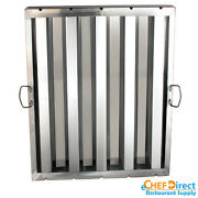 Box Of 6 Hood Filter/grease Baffle 20w X 25h Stainless Steel Commercial Range