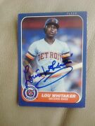 1986 Fleer Lou Whitaker Card Signed Card Auto Card In Person Coa.