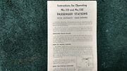 Lionel 115 And 132 Passenger Stations Instructions Photocopy