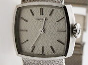 Authentic 1970and039s Longines 18k White Gold Mechanical Watch 51.5 Gram 7and039 Inch