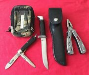 Buck 105 Camillus Electrician Stanley Multi Tool And Canvas Case