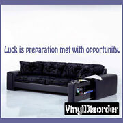 Luck Is Preparation Met With Opportunity Wall Quote Mural Decal-businessquotes19