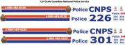 124 Decals Cnps Canadian National Railway Police Motormax Ford Crown Victoria