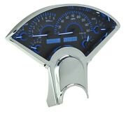 1955-56 Chevy Bel Air 210 Carbon Fiber Blue Dakota Digital Vhx Analog Gauge Kit