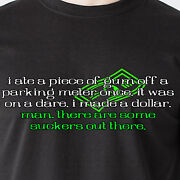 I Ate A Piece Of Gum Off A Parking Meter Once It Was On A Dare 70s Funny T-shirt