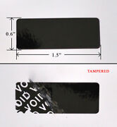 10000 Security Label Seal Sticker Black Tamper Evident 1.5 X 0.6 Void Ps3 Xbox