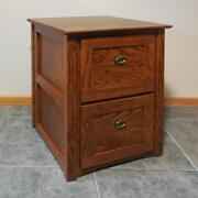 Authentic Mission 2 Drawer File Cabinet Solid Oak 320
