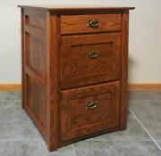Authentic Mission 2 1/2 Drawer File Cabinet Solid Oak 325